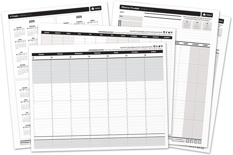 Planners and Calendars Printables
